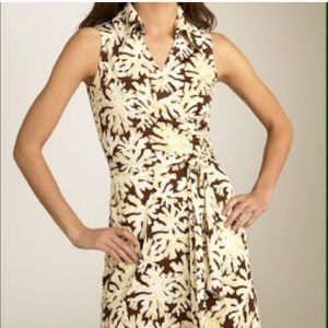 DVF 100% silk wrap St. Jude dress size 10